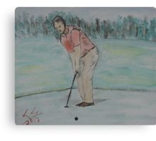 """""""The Putt""""  by Carter L. Shepard Canvas Print"""