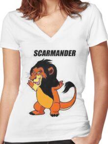 Scarmander Women's Fitted V-Neck T-Shirt