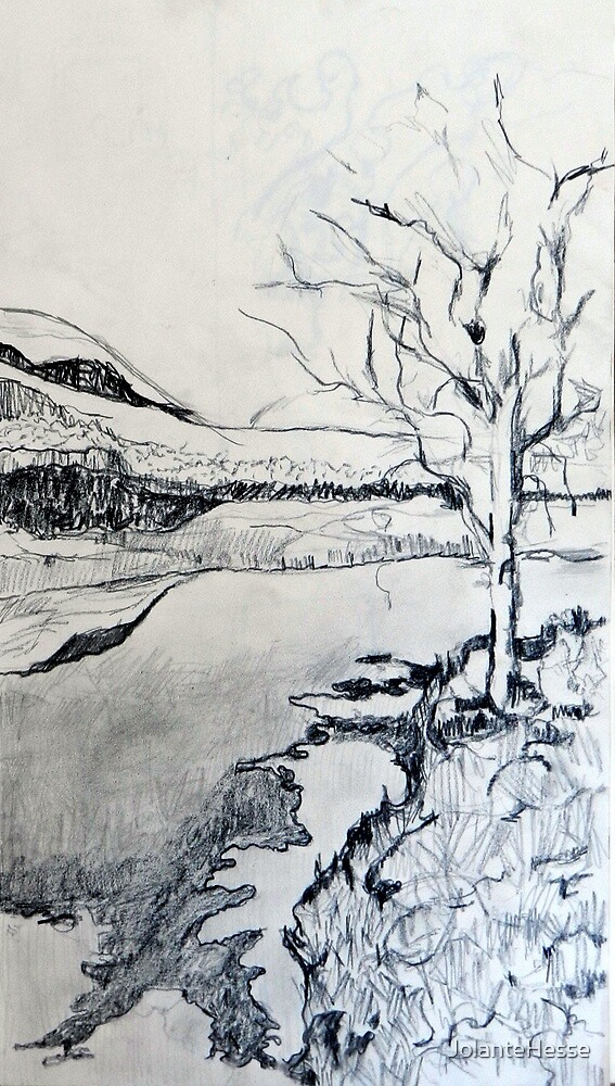 Study for 'Frosty Night at the River' by JolanteHesse