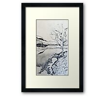 Study for 'Frosty Night at the River' Framed Print