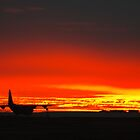 C130 (Hercules) and a southern hemisphere sunset by SwampDogPhoto