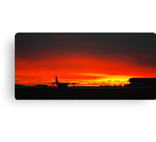 C130 (Hercules) and a southern hemisphere sunset Canvas Print