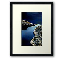 Frosty Night at the River Framed Print
