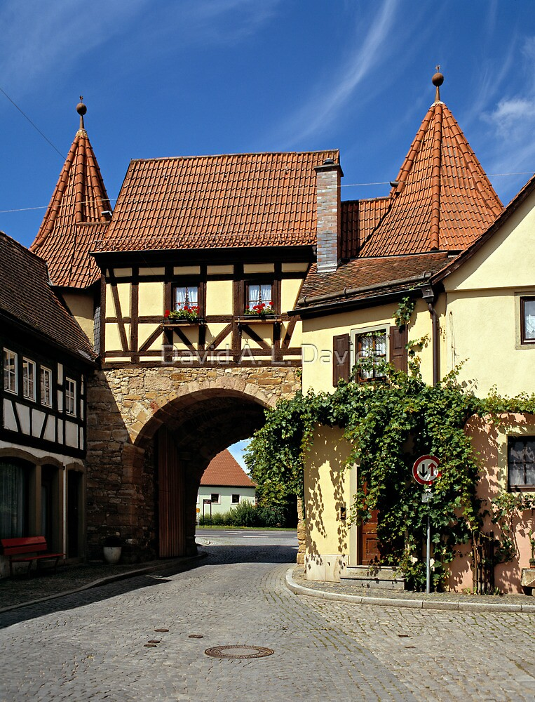 The West Gate in Prichsenstadt, Franconia, Germany. by David A. L. Davies