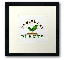 Powered by plants Framed Print