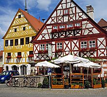 Timber framed houses in Prichsenstadt, Franconia, Germany. by David A. L. Davies
