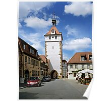 The Stadtturm in Prichsenstadt, Franconia, Germany. Poster