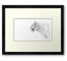 Smilodon fatalis Framed Print