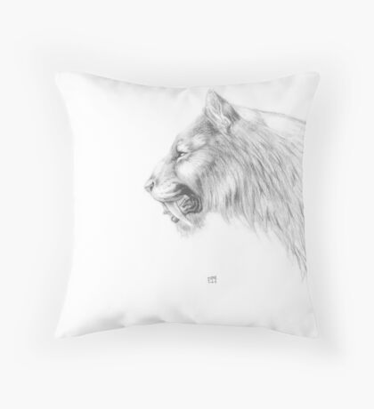 Smilodon fatalis Throw Pillow
