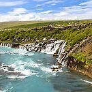 Hraunfossar (Lava-falls) II by Ólafur Már Sigurðsson