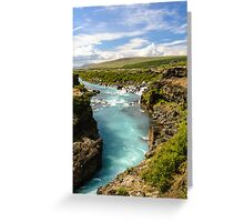 Hvítá og Hraunfossar (White-river and Lava-falls) Greeting Card