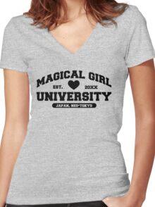 Magical Girl University Women's Fitted V-Neck T-Shirt