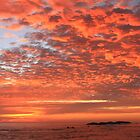Red Dawn Sky by Roupen  Baker