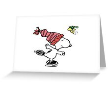 Snoopy Skating Greeting Card