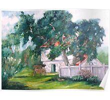 Artist's Backyard Poster