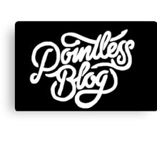 Pointless Blog Logo Canvas Print
