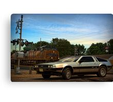 """Back to the Future"" Final Scene Canvas Print"