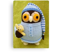 Hand Knitted Owl Canvas Print