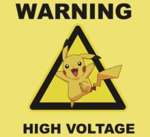 Warning! Pikachu High Voltage! Kids Clothes