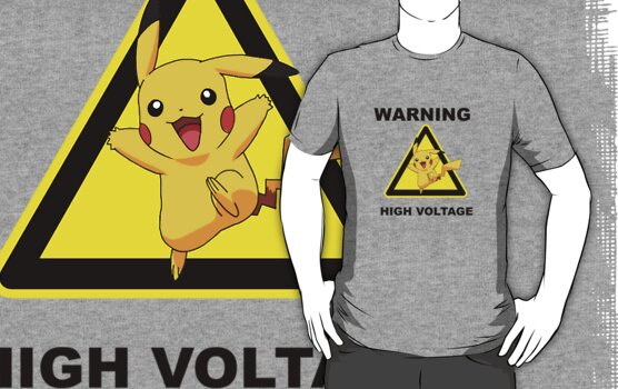 Warning! Pikachu High Voltage! by tappers24