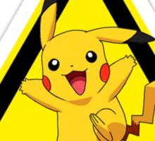 Warning! Pikachu High Voltage! Sticker