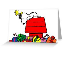 Snoopy and Gifts Greeting Card