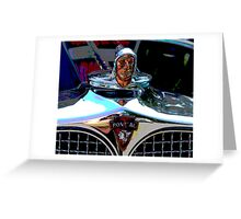 Pontiac Indian Chief Hood Ornament Greeting Card
