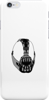 The Dark Knight Rises - Bane iPhone Case by bradwoodgate
