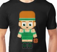 Basketball Green and White Unisex T-Shirt