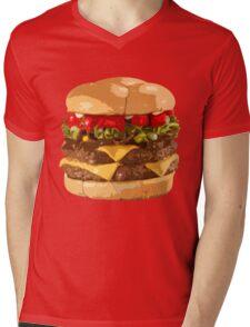 Fat Burger Mens V-Neck T-Shirt