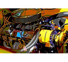 Chevrolet Engine Photographic Print