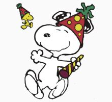 Happy New Year Snoopy by VintageTeeShirt