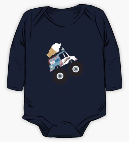 Ice Cream Monster Truck One Piece - Long Sleeve