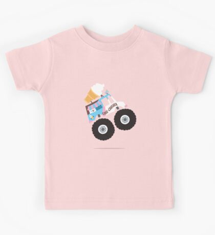 Ice Cream Monster Truck Kids Tee