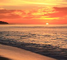 Tequila Sunrise Seascape  by Roupen  Baker