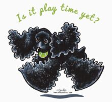 Black Cocker Spaniel :: Playtime Yet by offleashart