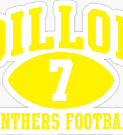 Dillon Panthers Football #7 Sticker