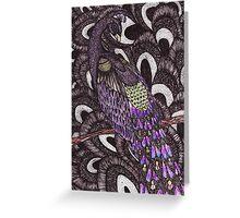 Colour Peacock Greeting Card