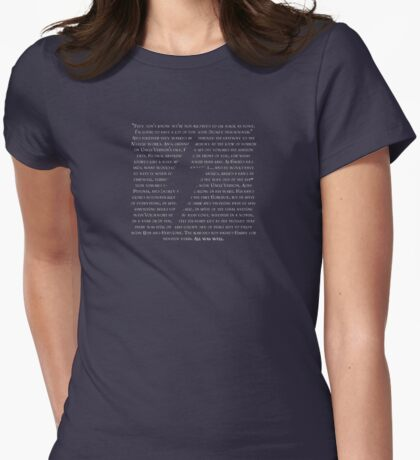 HP Quotes Womens Fitted T-Shirt