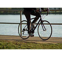 biking on the Basin Photographic Print