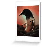 The crow in the cloud Greeting Card