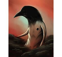 The crow in the cloud Photographic Print
