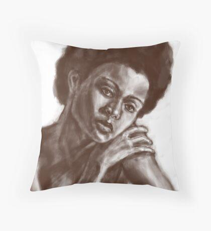 face sketch 2 Throw Pillow
