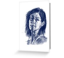face sketch 1 Greeting Card