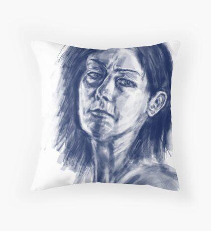 face sketch 1 Throw Pillow