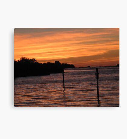 Marina at dusk Canvas Print