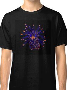 Secretary Bird Blue and Orange Print Classic T-Shirt