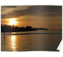 Sundown at the Marina Poster