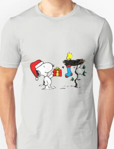 Snoopy and Woodstock Xmas T-Shirt