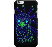 Secretary Bird Blue and Green Print iPhone Case/Skin
